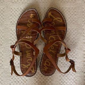 Sam Edelman Brown Leather Sandals Sz 8